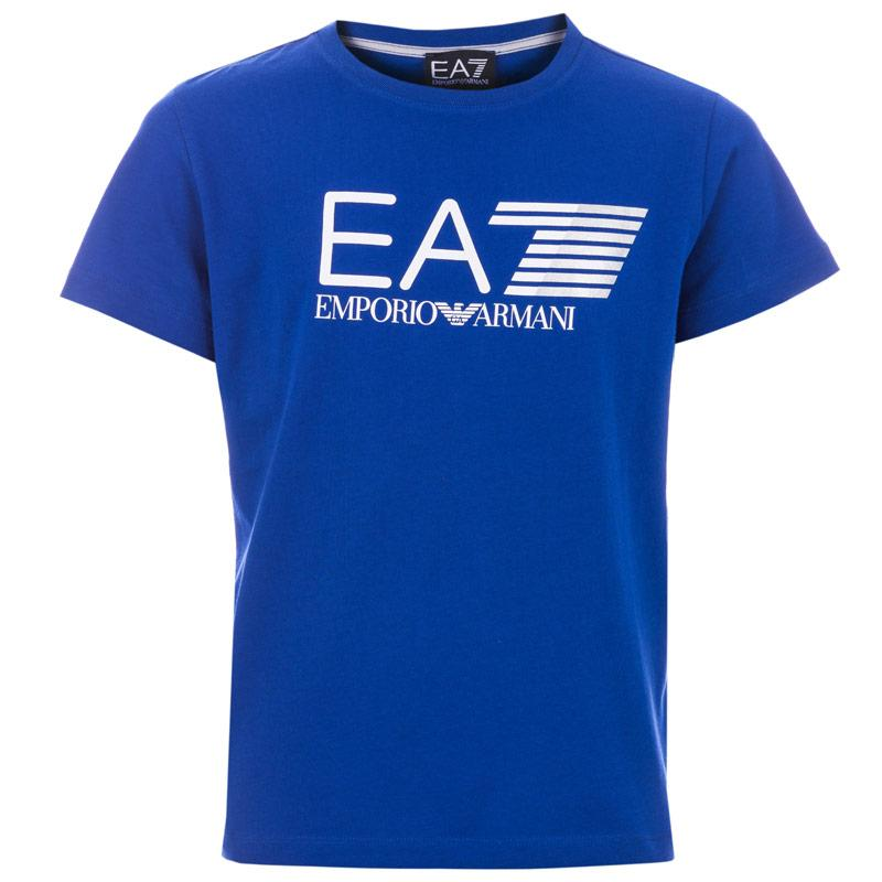 Tričko Emporio Armani EA7 Junior Boys Train Core Visability T-Shirt Blue Velikost - 9-10 let
