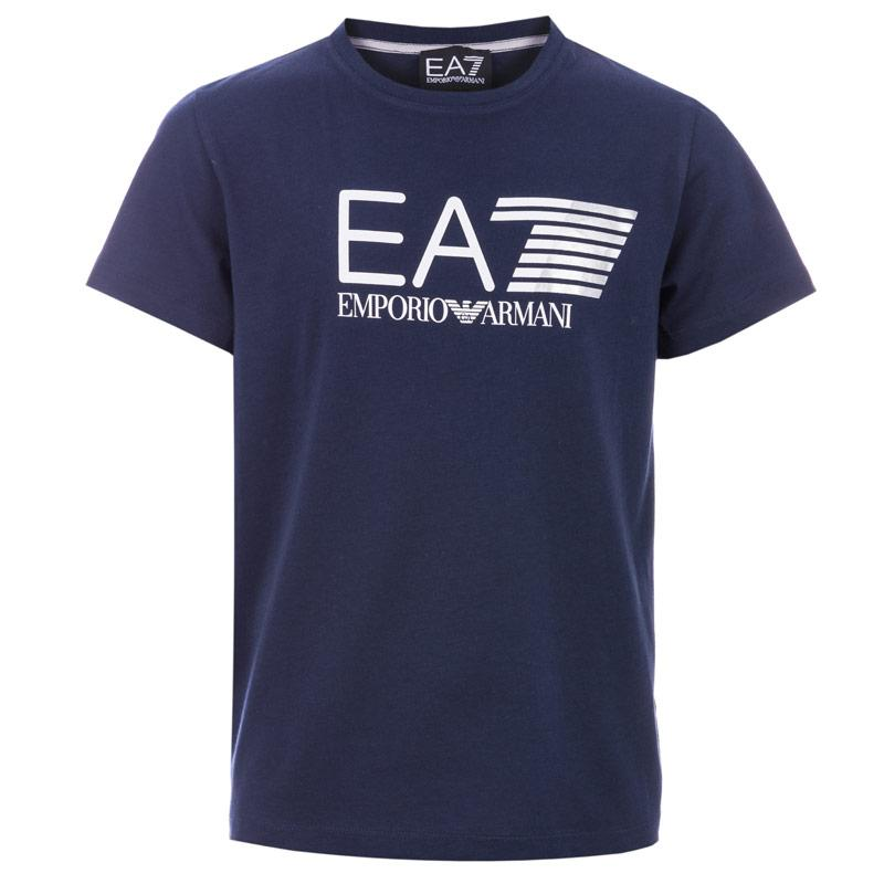Tričko Emporio Armani EA7 Junior Boys Train Core Visability T-Shirts Navy