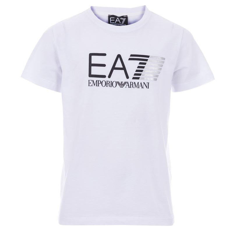 Tričko Emporio Armani EA7 Junior Boys Train Core Visability T-Shirts White