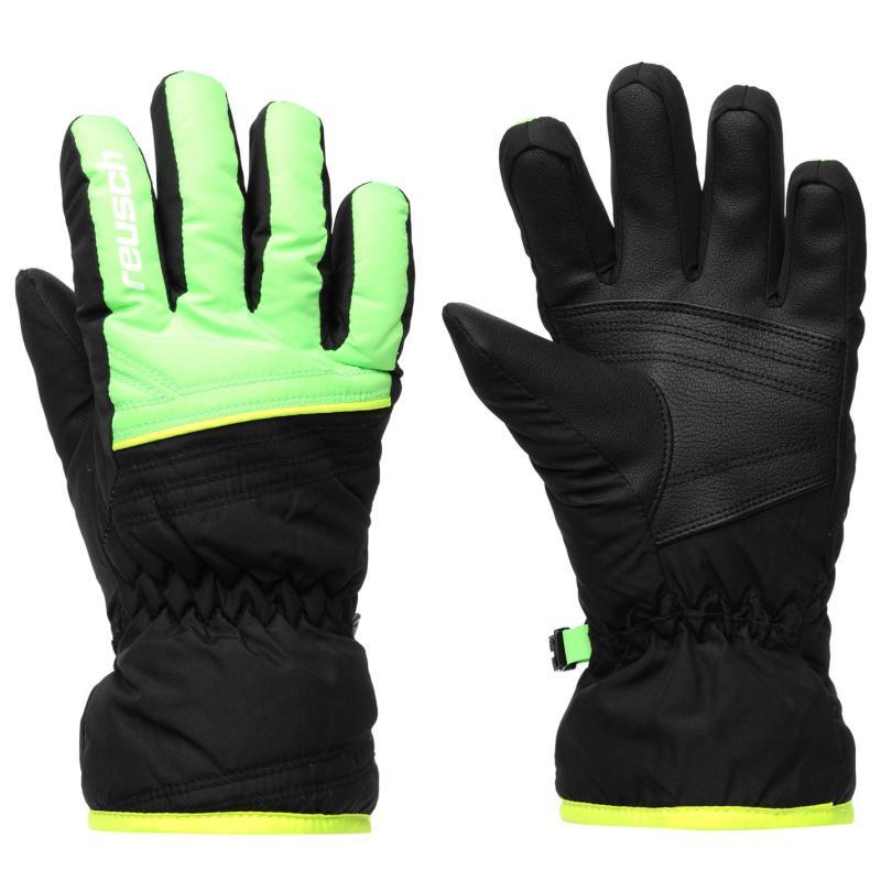 Marker Alan Juniors Ski Gloves Black/Green