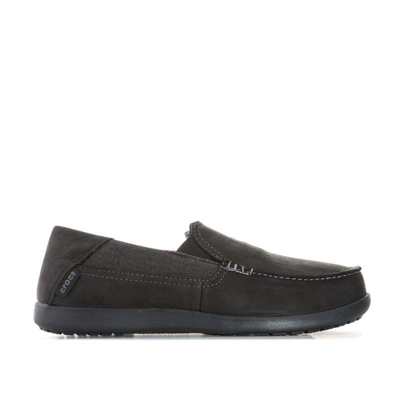 Boty Crocs Mens Santa Cruz 2 Luxe Leather Loafer Shoe Black