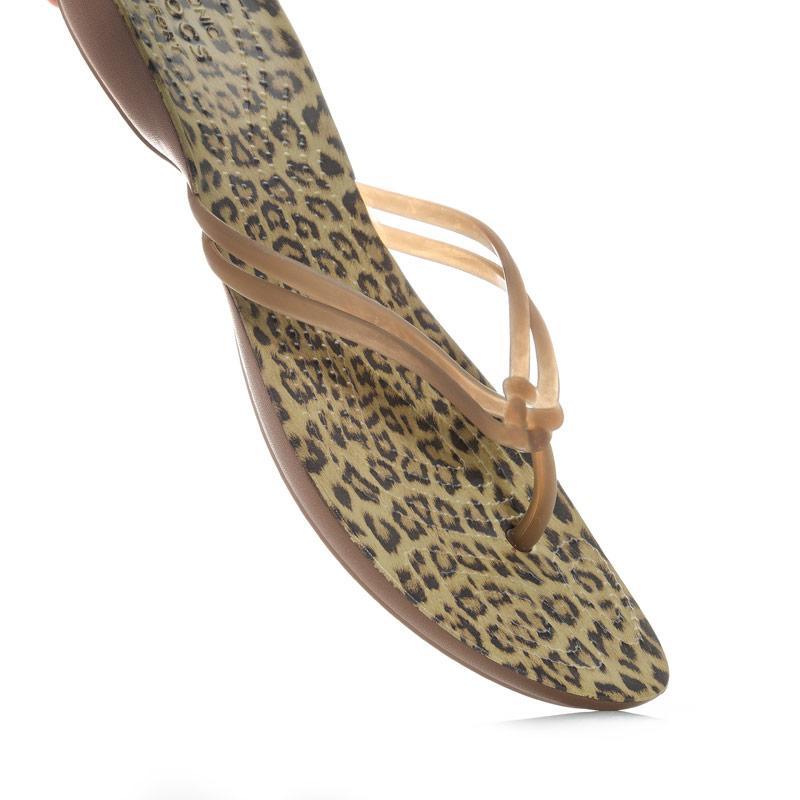 Boty Crocs Womens Isabella Graphic Flip Flops Leopard