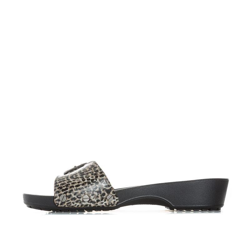 Boty Crocs Womens Sarah Leopard Sandals Black