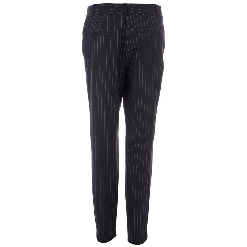 Kalhoty Vero Moda Womens Victoria Antifit Ankle Pinstripe Pants Black