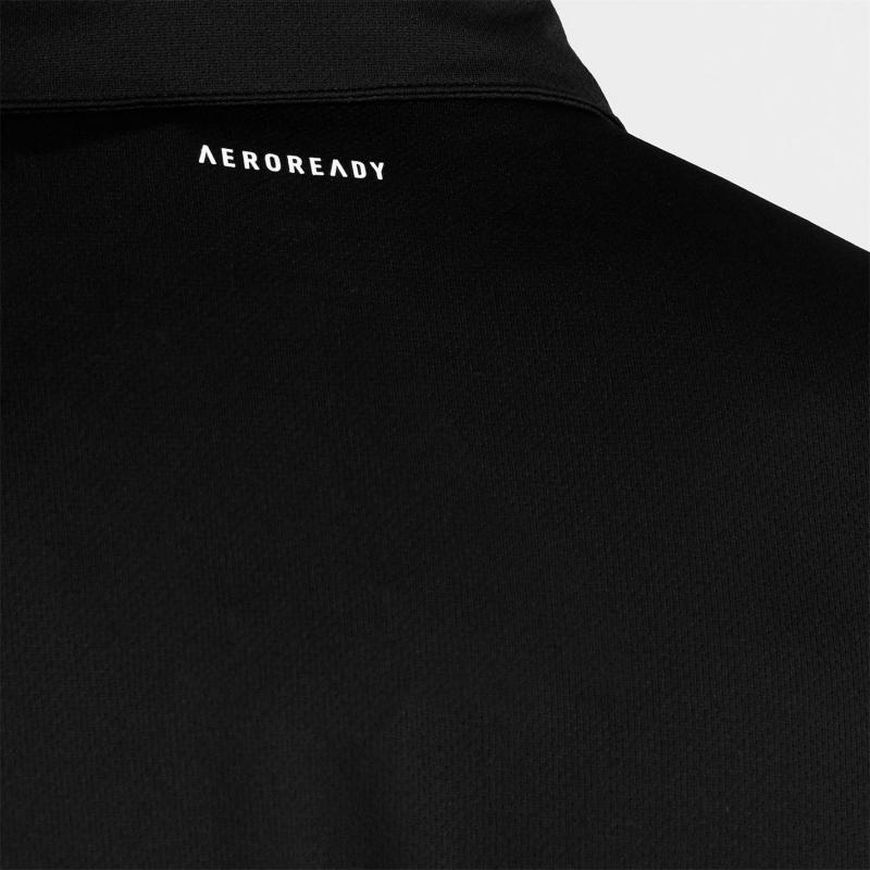 Adidas Mens Tennis Fab Polo Shirt Black