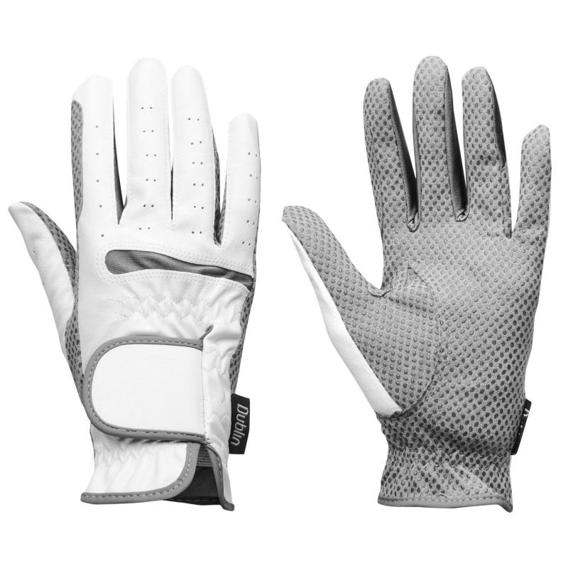 Dublin Equigrip RidingGloves Mens White/Grey