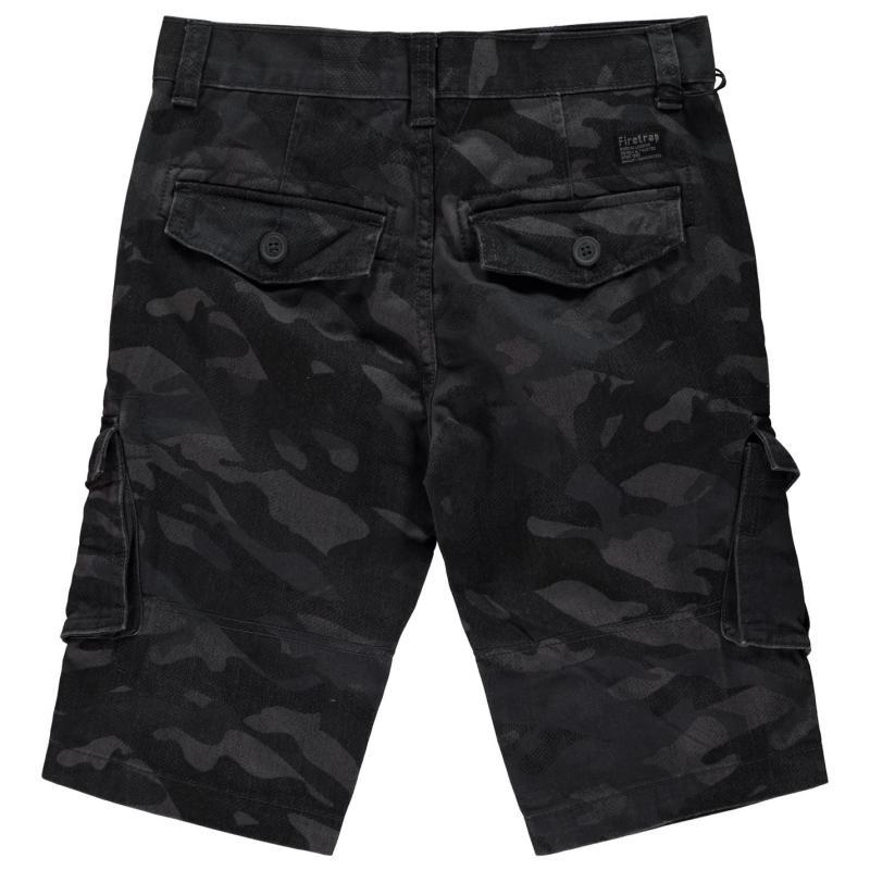 Kalhoty Firetrap BTK Shorts Junior Boys Navy Camo