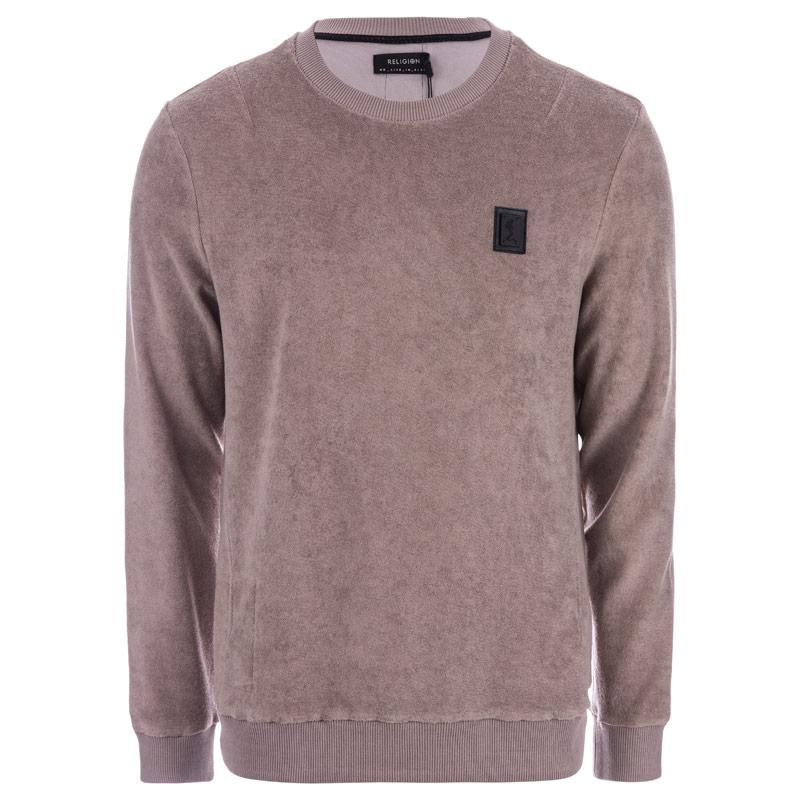 Mikina Religion Mens Pool Loopback Terry Sweat Brown