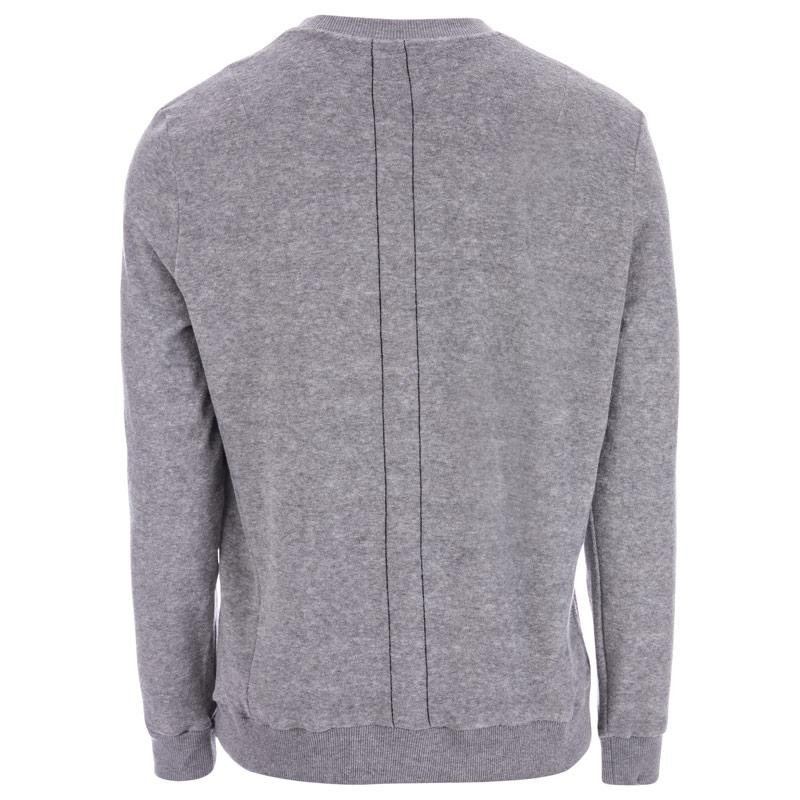 Mikina Religion Mens Pool Loopback Terry Sweat Grey Marl