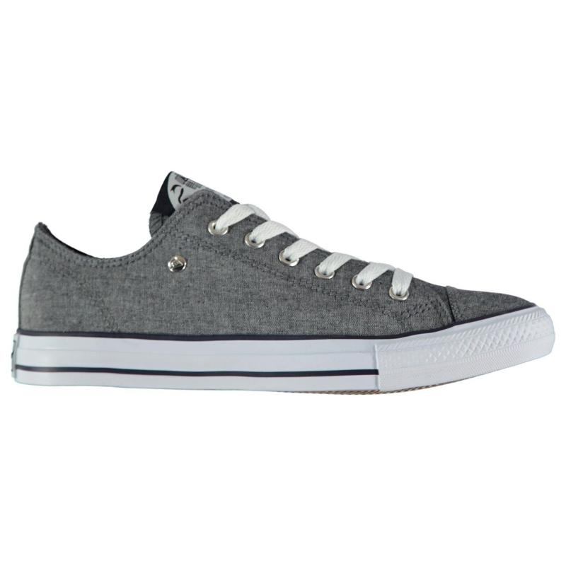 Dunlop Mens Canvas Low Top Trainers Navy Chambray