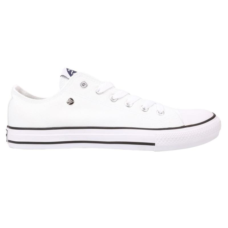 Dunlop Mens Canvas Low Top Trainers White