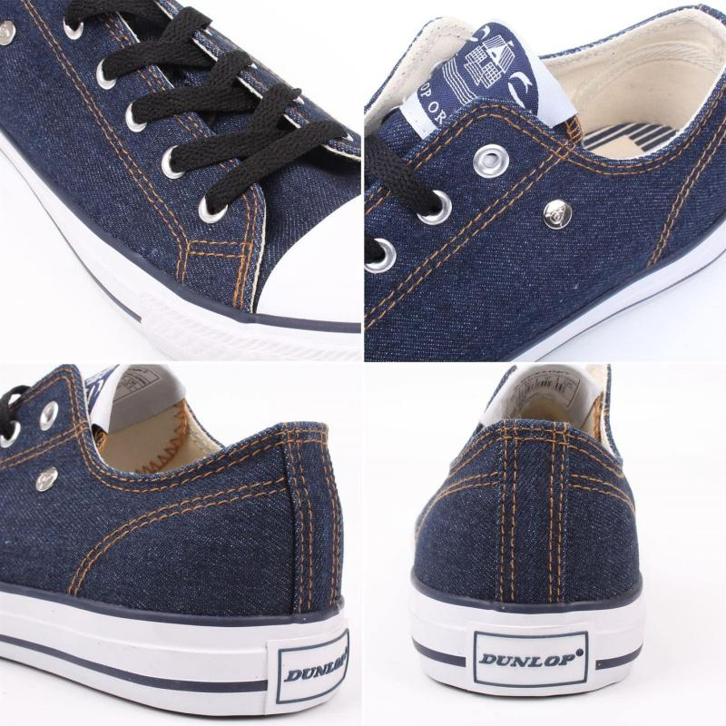 Dunlop Mens Canvas Low Top Trainers Royal