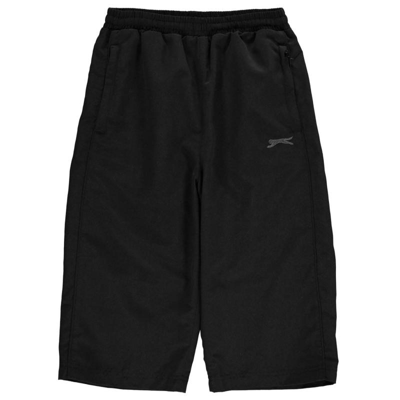 Kraťasy Slazenger Three Quarter Track Pants Junior Boys Black
