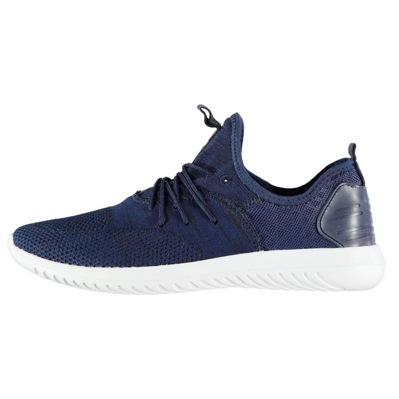 Fabric Cusago Mens Trainers Navy