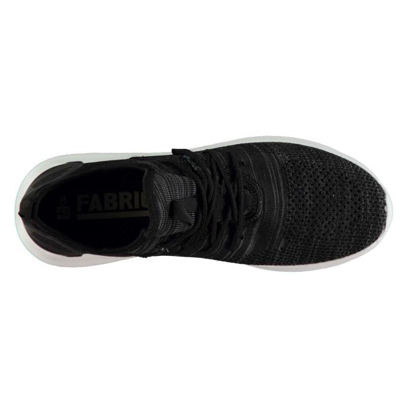 Fabric Cusago Mens Trainers Black/White