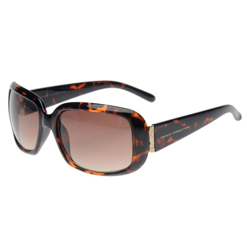 French Connection Sunglasses Ladies Brown/Tort/Gold