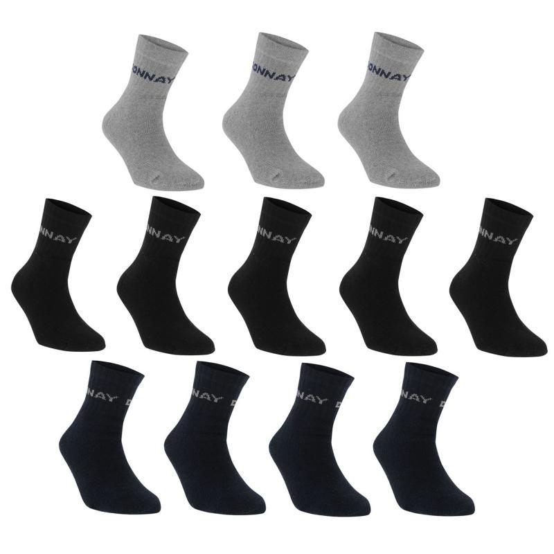 Ponožky Donnay Quarter Socks 12 Pack Mens Dark Asst