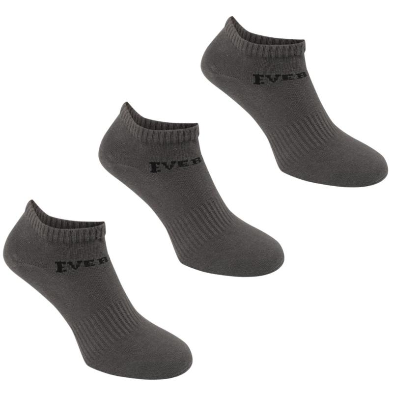 Ponožky Everlast 3 Pack Trainer Socks Ladies Grey
