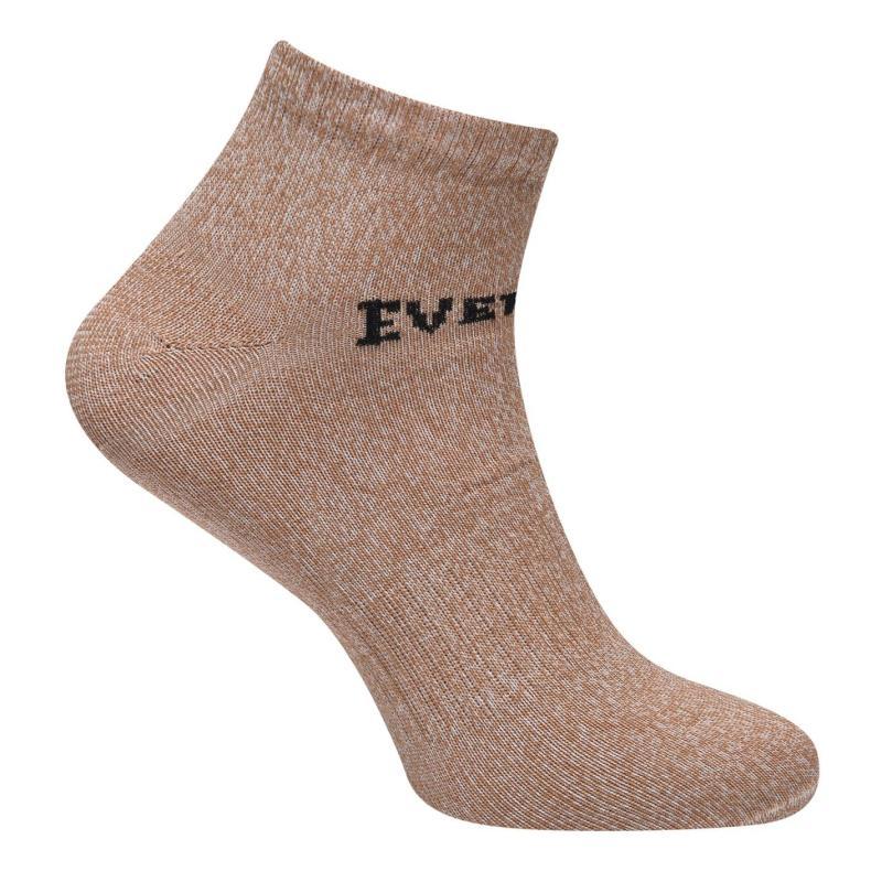 Ponožky Everlast 3 Pack Trainer Socks Mens Brown