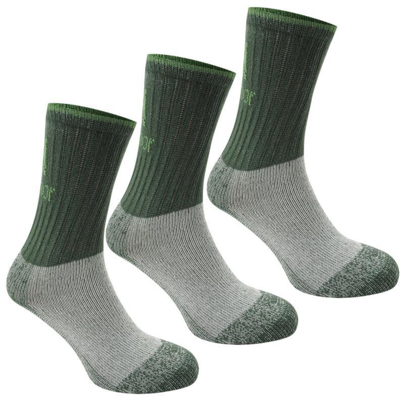 Karrimor Heavyweight Boot Sock 3 Pack Junior Green