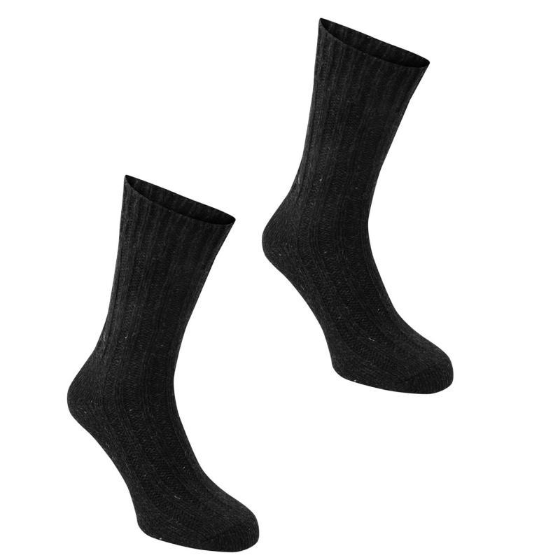 Karrimor Wool Socks 2 Pack Mens Black