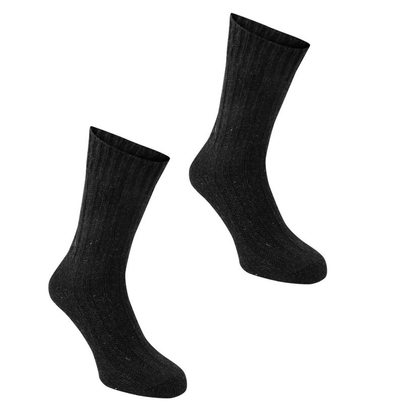 Ponožky Karrimor Wool Socks 2 Pack Mens Black