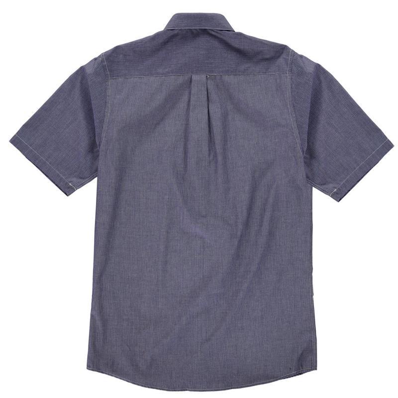 Fusion Micro Checked Shirt Mens Navy