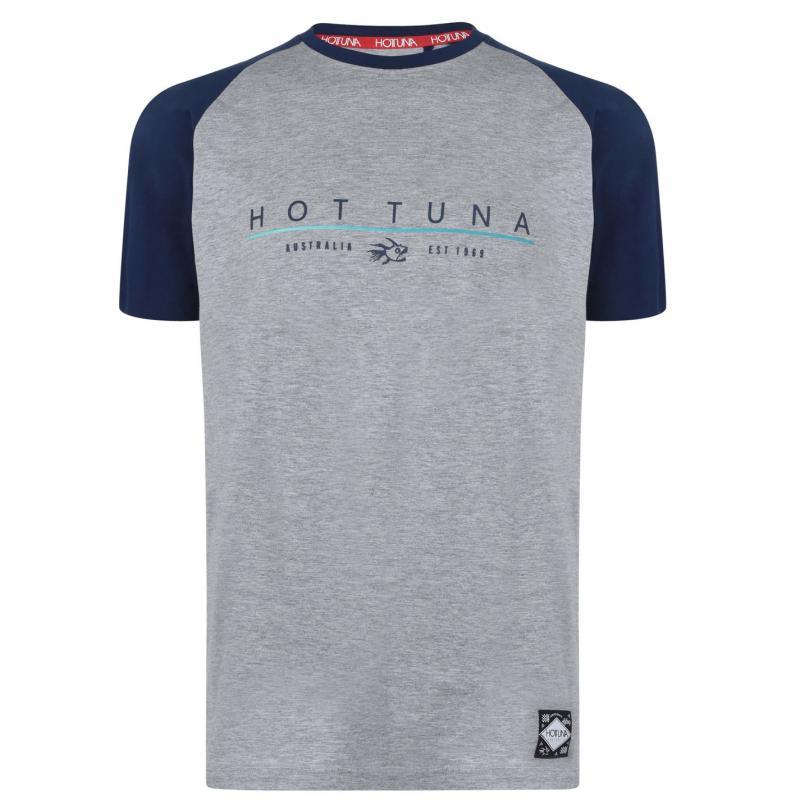 Tričko Hot Tuna Crew T Shirt Mens Grey Raglan