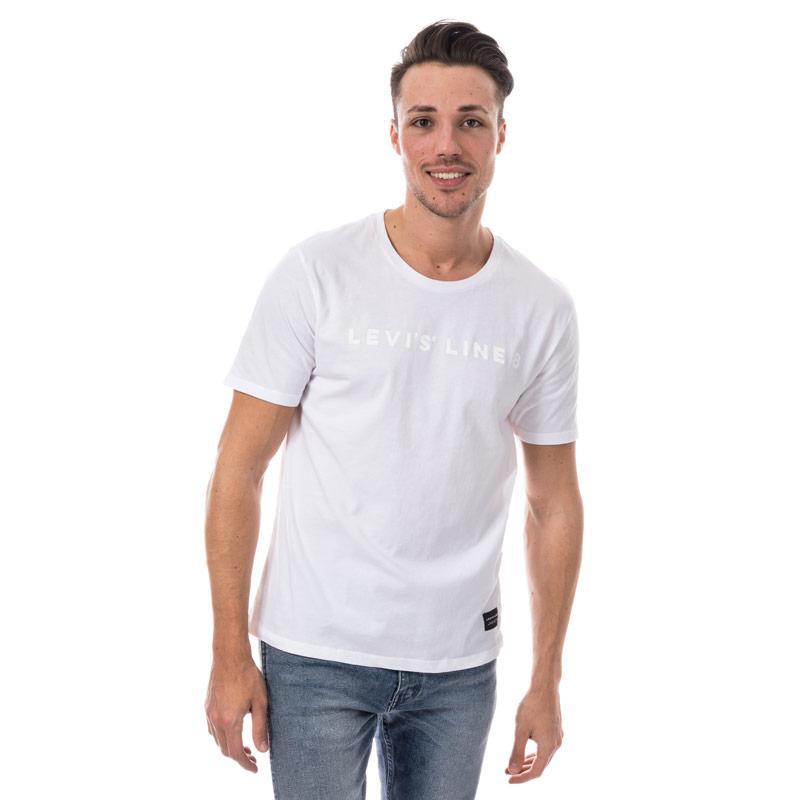 Tričko Levis Mens Line 8 Logo T-Shirt White