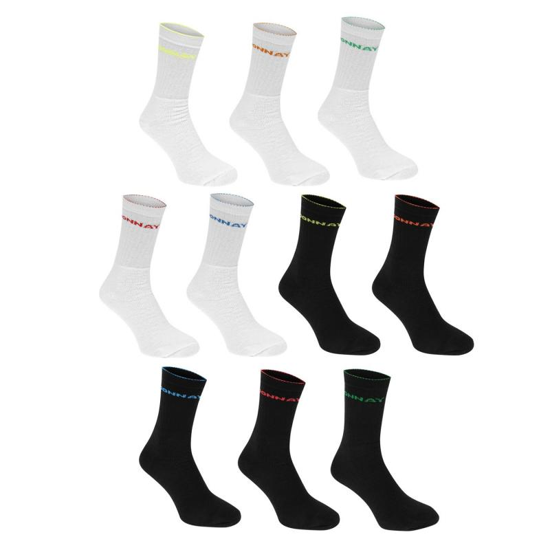 Ponožky Donnay Crew Socks 10 Pack Kids Bright Asst
