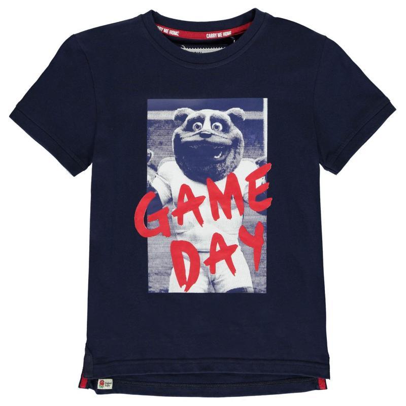 Tričko RFU England Graphic T Shirt Junior Boys Navy