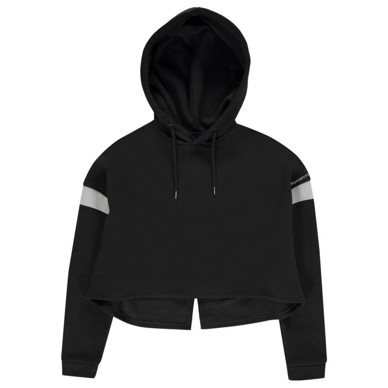 Mikina SportFX Crop Panel Hoodie Ladies Black/Refl