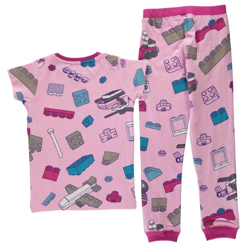 Lego Wear Iconic Pyjamas Junior Girls Lilac AOP