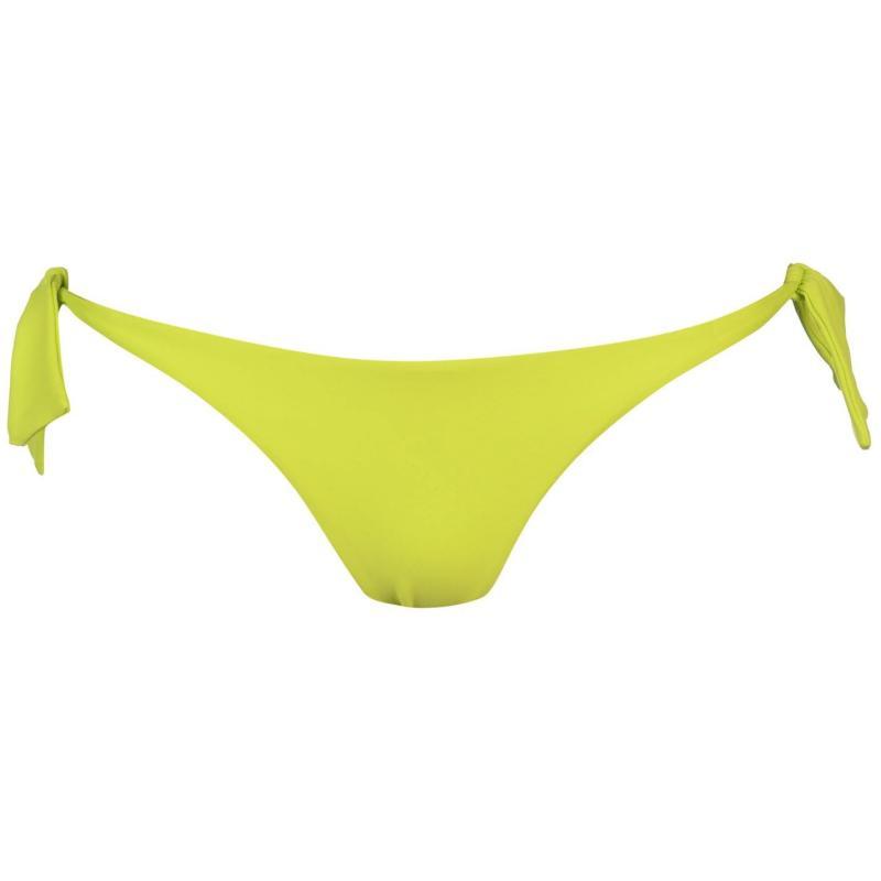 Plavky ONeill Cheeky Tie Bikini Bottoms Ladies Lime Punch