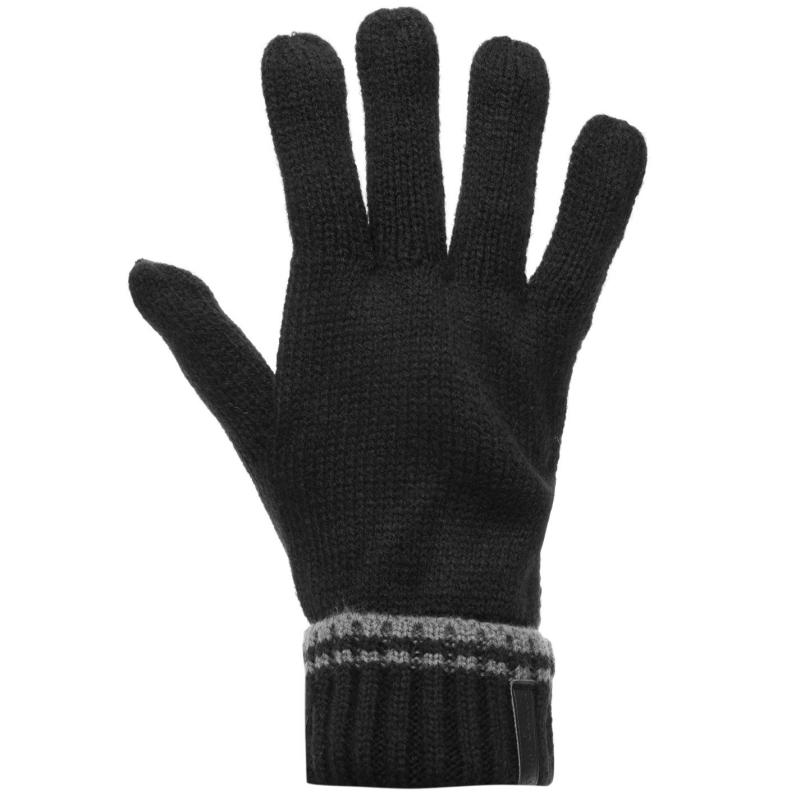 Pierre Cardin Knit Gloves Mens Black