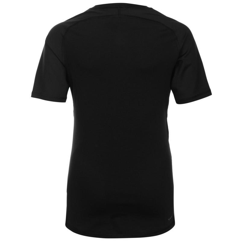 Adidas AlphaSkin Short Sleeve Baselayer Top Junior Black