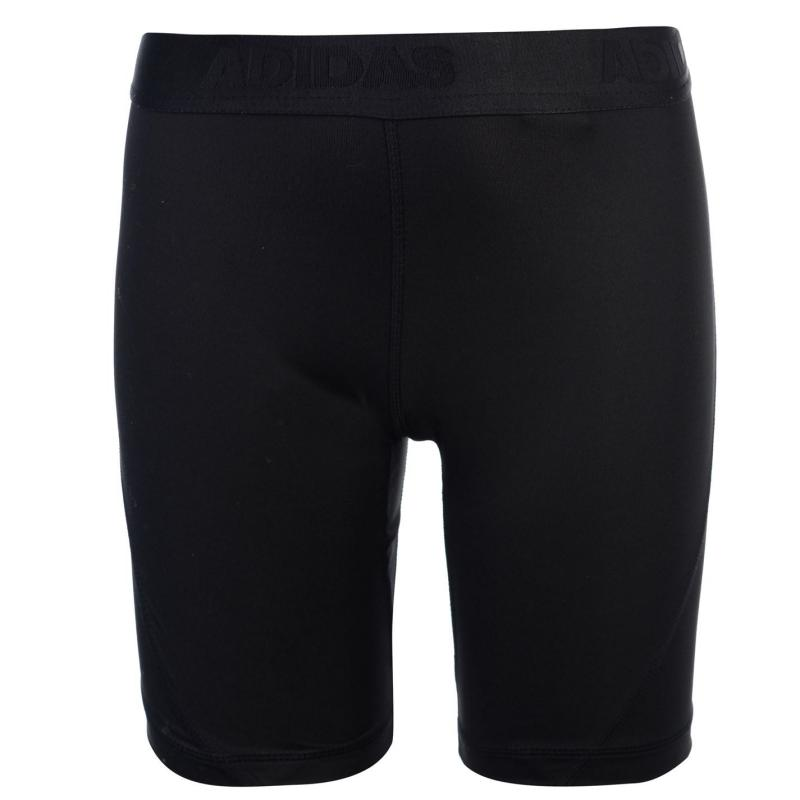 Adidas Boys Alphaskin Techfit Short Leggings Black