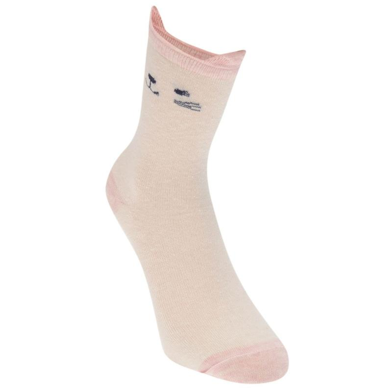 Crafted Essentials 5PK Sock ING00 Pink/Grey/Cream