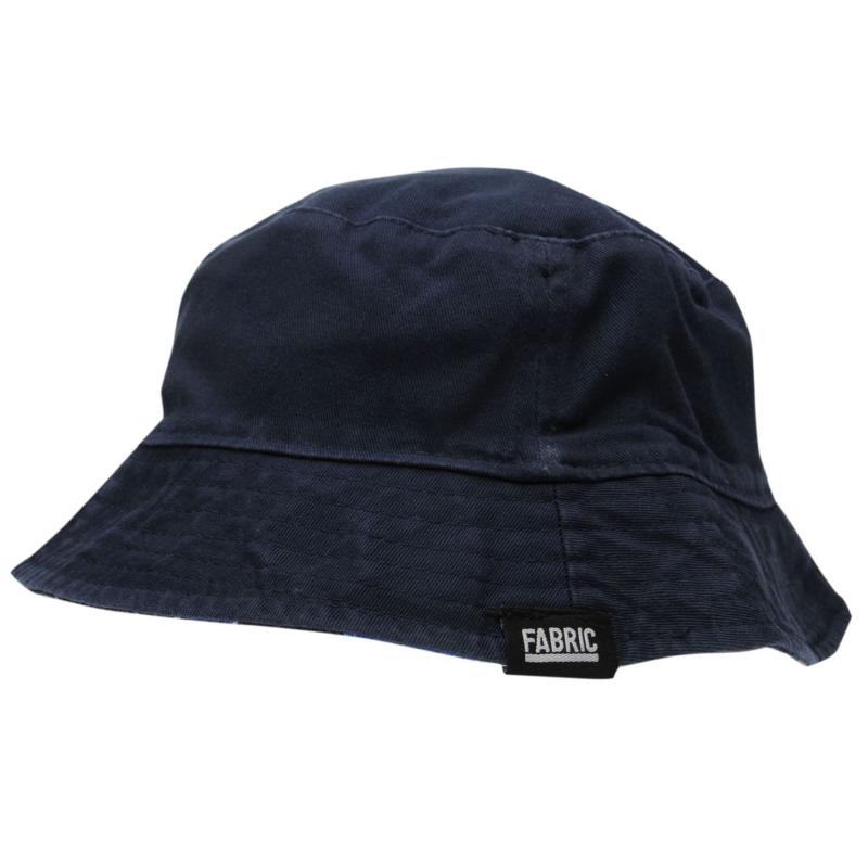 Fabric Reversible Bucket Hat Navy