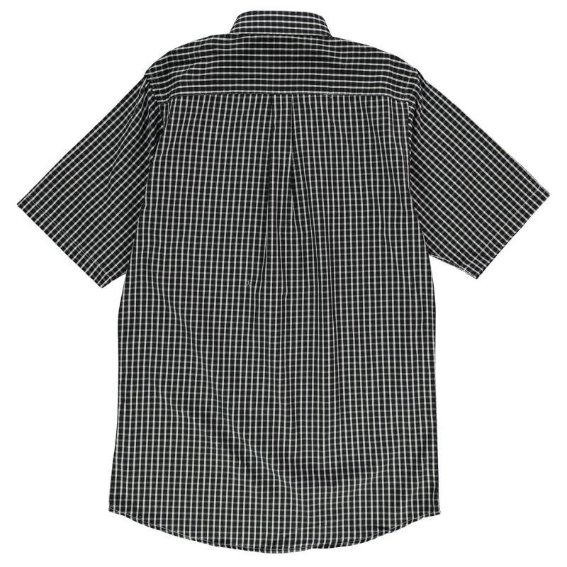 Fusion Checked Shirt Mens Black/Check