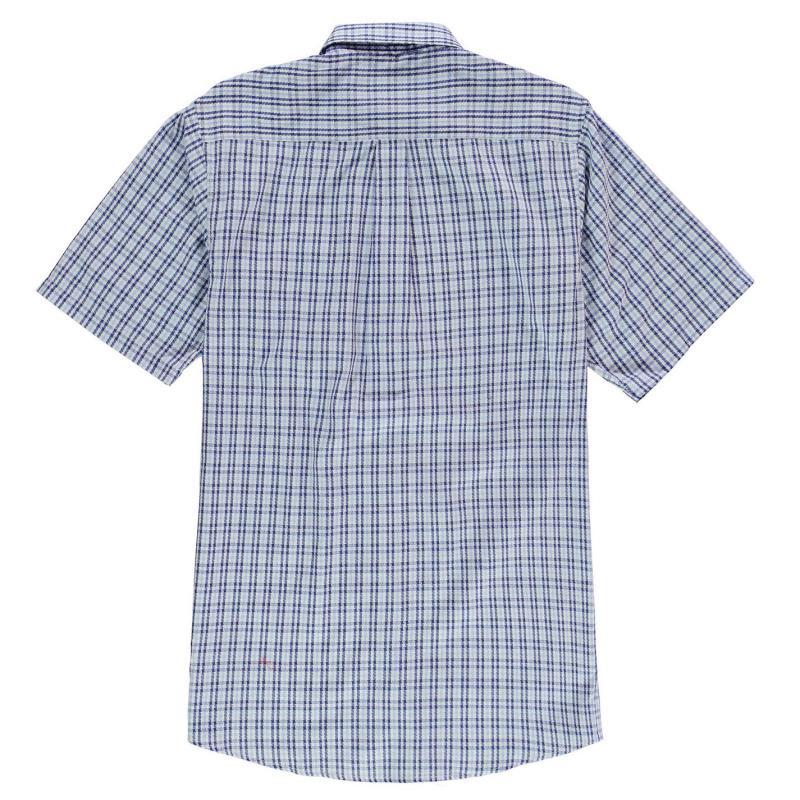 Fusion Textured Geo Shirt Mens Blue