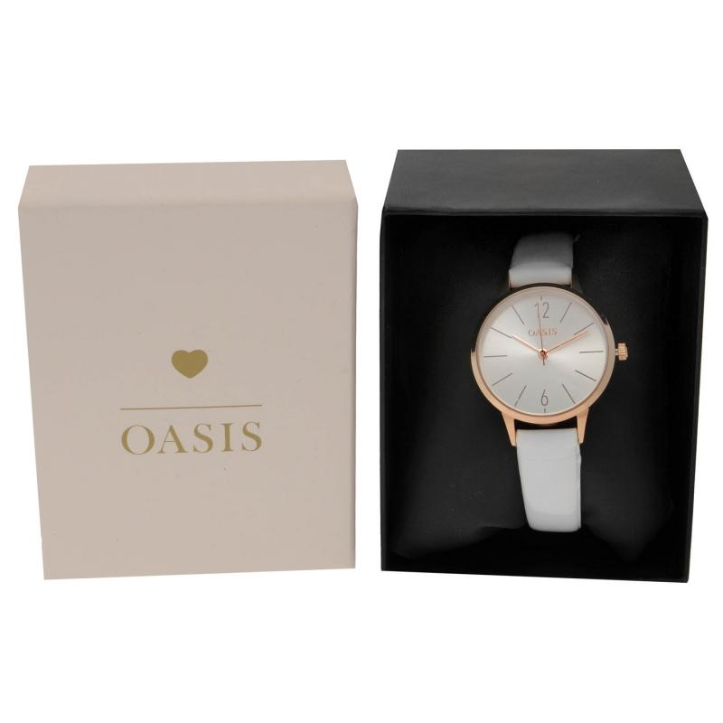 Oasis SB009W Watch White/Rose Gold