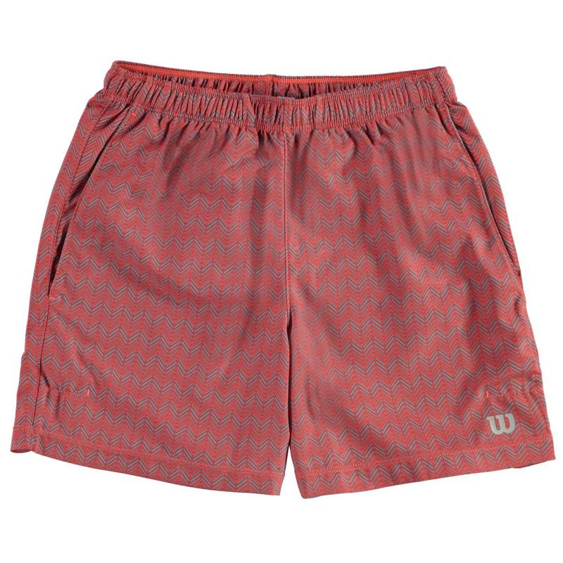 Wilson Laby Shorts Junior Boys Hot Coral