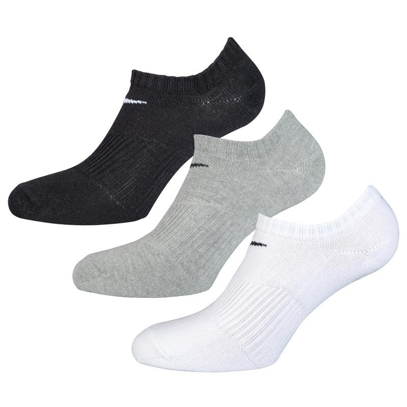 Ponožky Nike 3 Pack Performance No-Show Training Socks Black Grey White