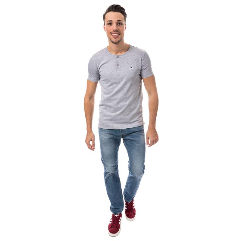 Tričko Le Shark Mens Cook Button T-Shirt Grey Marl