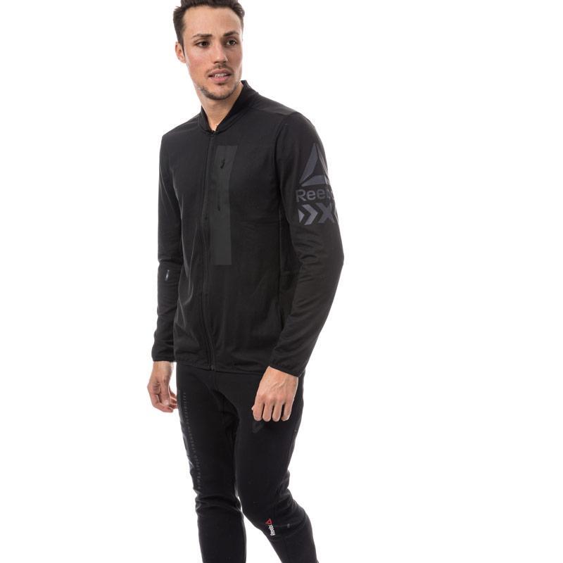Reebok Mens Training Track Jacket Black