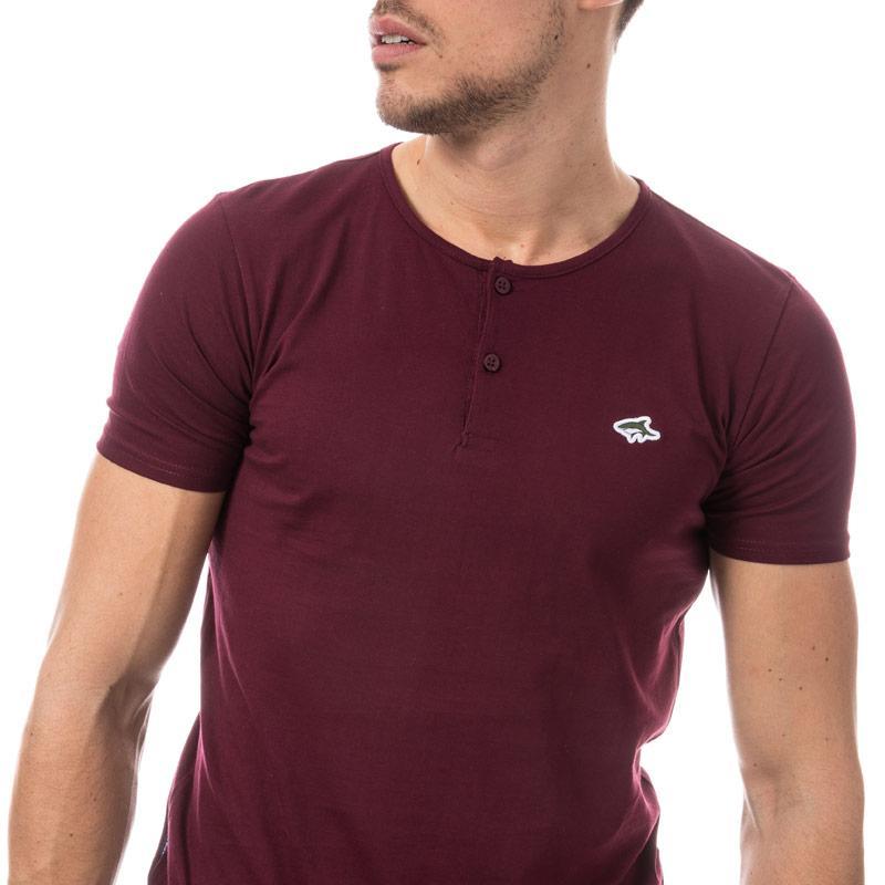 Tričko Le Shark Mens Cook Button T-Shirt wine
