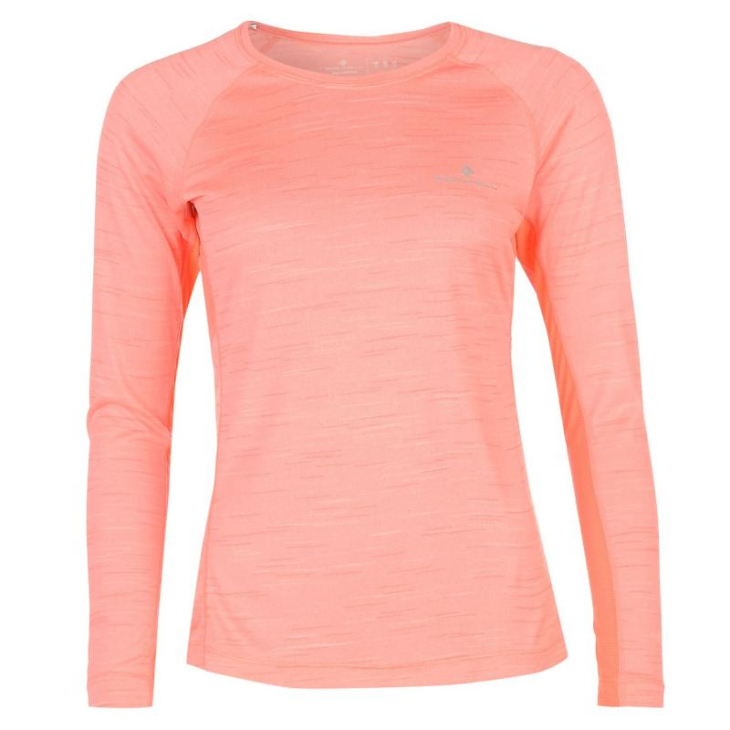 Ron Hill Momentum Long Sleeve Running Top Pink