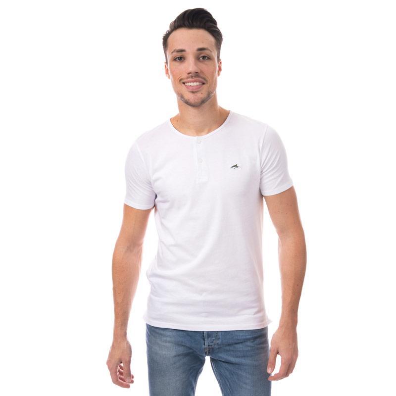 Tričko Le Shark Mens Cook Button T-Shirt Navy