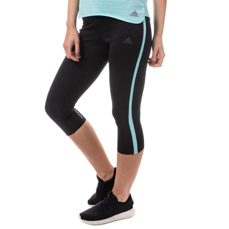 Adidas Womens Response 3 Quarter Running Tights Black